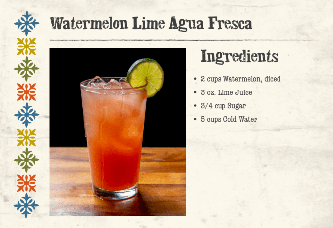 Watermelon Lime Agua Fresca Front